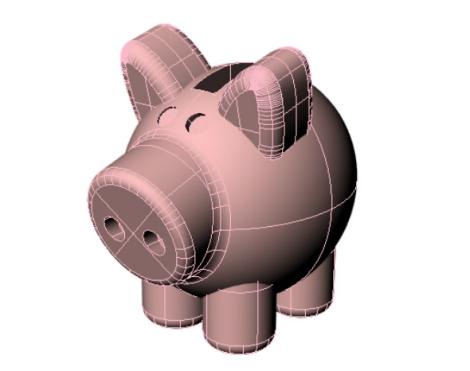 3dchef Piggy model
